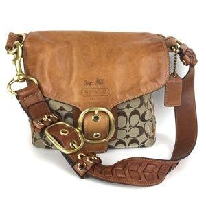 COACH Vintage Signature Whiskey shoulder bag